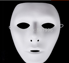 5 Pieces Jabbawockeez Mask White Hip-hop Mask Women's Mask Street Step Dance Halloween Costume Ball Masquerade Party D-1549women