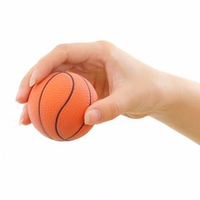 Basketball Orange Hand Wrist Exercise Stress Relief Squeeze Soft Foam Ball Health Care 6.3CM(China)