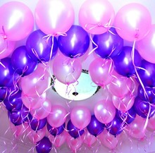 100pcs/lot 10 inch blue inflatable latex balloon air balls wedding party decoration birthday party balloons float toys children