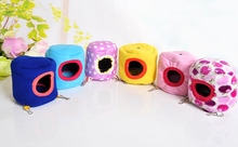 1pcs Cute Mini Pet House Couch Pets Cage Hedgehog Hammock House Small Animal Bird Parrot Hamster Kennel Toys Color Random S2