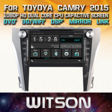 WITSON car audio gps dvd for TOYOYA CAMRY 2015 with Capacitive Screen 1080P DSP WiFi/3G/DVR (optional)+Good Price