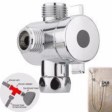 "2017 Contemporaoy Multi-Purpose 3 way Shower Head Diverter Valve -G1/2"" Three Function Switch Adapter Valve for Toilet Bidet(China)"