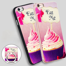 cupcake Soft TPU Silicone Phone Case Cover for iPhone 5 SE 5S 6 6S 7 Plus