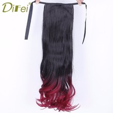 Buy DIFEI Long Curly Women Synthetic Ponytail Hairpiece Clip Hair Extension Heat Resistant Synthetic Hair Tail for $6.00 in AliExpress store