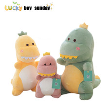 cute dinosaur plush toy stuffed soft animal toy  dinosaur pillow baby kids toy birthday gift for children high quality