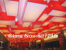 Red Wooden Frame with White Translucent Ceiling Film in MAOMING's National Hotel