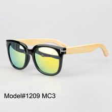 #1209 UNISEX bamboo nature sunglasses UV400 Polarized lens with spring hinge 6 color choice