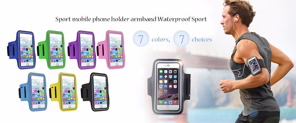sport mobile phone holder armband Waterproof Sport running Arm Band universal brassard telephone pour courir brazalete deportivo