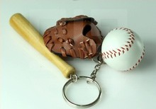 10pcs/lot Baseball Keychain Sport Keyring World Cup Gifts(China)