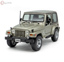 Bburago 1:18 Jeep Wrangler Khaki Diecast Model Roadster Car Vehicle New In box W sound & light Kids Toys Gift Collection(China)