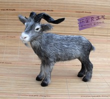 small size new simulation gray goat toy polyethylene & furs lucky sheep doll gift about 22x20x14cm 903