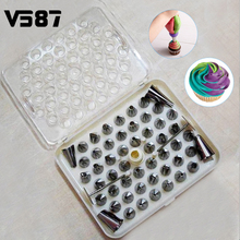 DIY 52Pcs Stainless Steel Icing Piping Nozzles Tool Pastry Cake Kitchen Baking Tools Sugarcraft Decorative Accessory(China)
