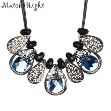 Match-Right Women Necklace Statement Necklaces & Pendants Crystal Necklace For Women Jewelry NL611(China)