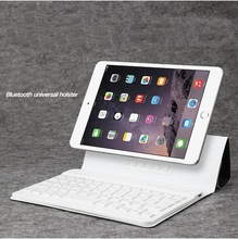 New Magnetic Flip PU Leather Bluetooth Wireness Keyboard Case Cover Stand Universal Tablet Case With Keyboard For iPad For ipone