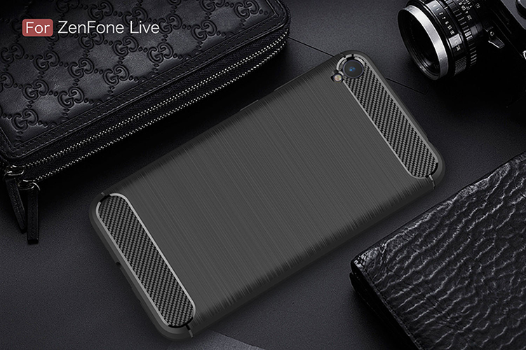 For ASUS ZenFone Live ZB501KL case Carbon Fiber TPU Protector Back Cover ASUS ZB501KL protective case Anti-Skid free shipping