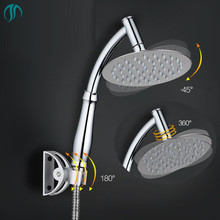 15cm Rainshower Overhead Showerhead Bathroom 360 Adjustable Shower Heads With Arm Handheld and Wall Mounted Rainfall Shower