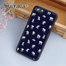MaiYaCa Indian Baby Elephants in Navy Soft Rubber cell phone Case Cover For iPhone 6 6S phone cover shell(China)