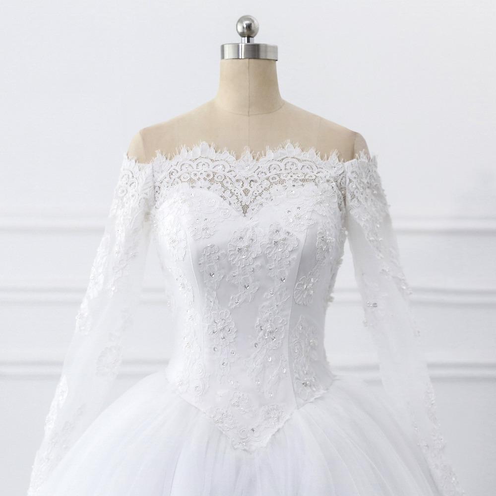 Lover Kiss Vestidos de Noiva Ball Gown Wedding Dress Long Sleeves Wedding Dresses Tulle Vestido de Noiva Casamento Mariage Boda 5