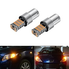 2 Pcs P21W Ultra Bright 45pcs 4014 Chipsets Canbus  1156 1141 1073 7506 BA15S LED Bulbs turn signal lights, Yellow