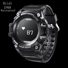 Buy NEW Biidi Smart Sport Watch T1 OLED Display Heart Rate Monitor IP68 Waterproof Push Message Call Reminder Android IOS Phone for $40.99 in AliExpress store