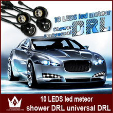 Night Lord super White round drl high power eagle eyes led meteor shower Light 10 LED Daytime Running Light Free shipment(China)