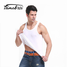 Men's Close-fitting Vest Fitness Men Underwear Clothes Solid Cotton Tank Tops Spring Undershirts Male Tanks Underpant(China)