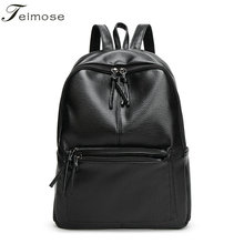 T1#  Fashion Women Backpack High Quality PU Leather Mochila Escolar School Bags For Teenagers Girls Top-handle Backpacks Travel