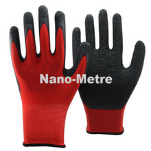 NMSAFETY 13G knit nylon/polyester liner palm latex coated safety industrial/mechanic gloves Seamless knit(China)