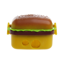 Kawaii Cute Funny Hamburger Pencil Sharpener Double Hole Penknife Kids School Pencil Knife Stationery Supplies(China)