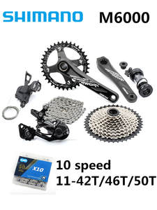 SHIMANO Groupset Mountain-Bike-Kit Bicycle-Transmission Deore M6000 GX NX 1x11 MTB 10s