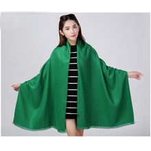 Wholesale Green New Fashion Women's Brand Cashmere Pashimina Thick Soft Shawl Scarfs Wrap Warm 200x60cm 20 Colors 121101