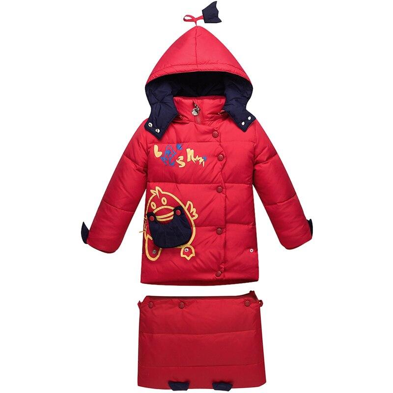 Baby Swaddling Snowsuits Winter Down Jacket For Girls Children Down Coat Boys Kids Cartoon Hooded Outerwear Baby Sleeping Bag<br>