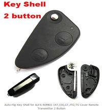 free shipping 5pcs/lot Auto Flip Key Shell FOR ALFA ROMEO 147 156 GT JTD TS Remote Transmitter 2 Button(China)