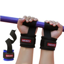 1 Pair Weight Lifting Grip belt  gym with non-slip grip belt tension thickened wrist weightlifting dumbbell
