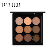 Professional Makeup 9 Colors Glitter Shimmer Eyeshadow Palette Smoky Pigment Eye Shadow Party Queen Nude Matte Eyeshadow Beauty