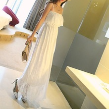 cheap clothes for teenage girls dresses for girls of 14 years old holiday Beach party lace white long dress 2016 summer
