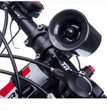 6 sound loop Black Bicycle Electronic Bell Alarm Siren Horn  Loudly Speaker without battery