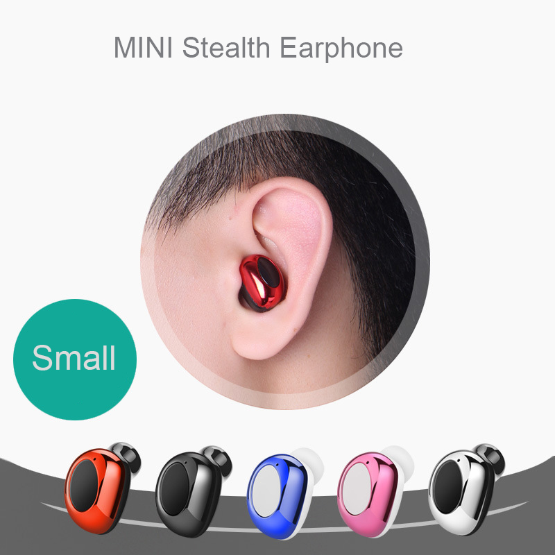 HCQWBING Mini Wireless Bluetooth Earphones Headphone Handsfree Magnet USB Charger in ear earpiece Headsets with Mic for phone