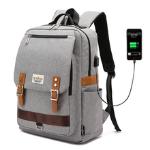 Vintage Men Women Canvas Backpacks School Bags for Teenagers Boys Girls Large Capacity Laptop Backpack Fashion Men Backpack (China)