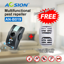 Buy Anion Free Shipping Pest Repeller Electronic Ultrasonic Bug Reject Pest Control Rat Mouse ( Got mosquito killer free)(China)