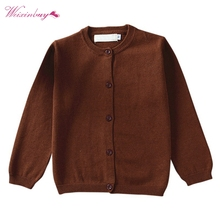 Baby clothing boys girls children knitted cardigan kids spring autumn long sleeve sweater(China)
