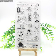 ZFPARTY Sew Life Transparent Clear Silicone Stamps for DIY Scrapbooking/Card Making/Decorative sheets(China)