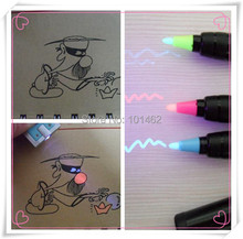 Disappearing Invisible Ink UV Pen CH-6004 (red, blue and yellow ink) CH6004(China)