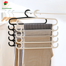 Pants Hangers Holders For Trousers Towels Clothes Apparel Hangers Four-layer Space Saving Hanger Necktie Tie Towels Scarf Rack(China)