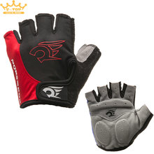 Red Cycling Gloves Bicycle Motorcycle Sport Gel Half Finger Gloves M- XL Size(China)