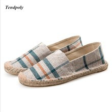 2017 China wind popular spring section lazy casual canvas shoes for men and weaving rope fisherman shoes pedal hemp shoes(China)