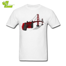 Golden Gate Bridge Man T Shirt San Francisco, U.S Home Wear Exercise Tops Boy Short Sleeve Tshirt Teenage Latest Simple Clothing
