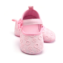 Kawaii Butterfly-knot Infant Baby Girl Shoes High Quality Solid Prewalker Simple Lace Toddler Kids Moccasin 4 Color Available(China)