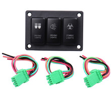 1 Pieces Car 3 Button Driving Light Panel Switch for Toyota Zombie Light Rocker On Off Switch DC 12V