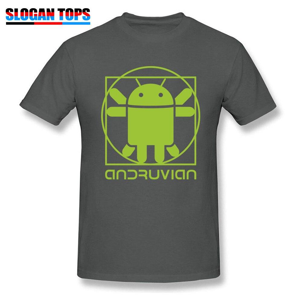 Vitruvian Droid green Men Funny Gift Tops & Tees O-Neck Summer Cotton T Shirts Summer Short Sleeve Tee Shirt Free Shipping Vitruvian Droid green carbon
